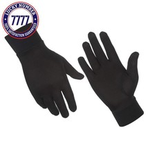 Alaska Bear - Natural Silk Liner Gloves Unisex - $21.25+