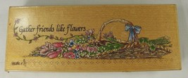 """Rubber Stamp Gather Friends Like Flowers 6 x 1.75"""" Linda Grayson Stamps Happen - $3.24"""