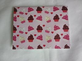Pink handmade cupcake birthday greeting card, blank birthday card - $3.25