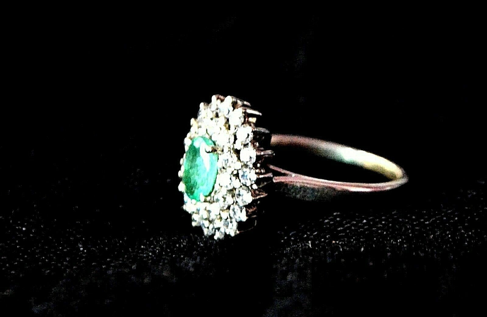 925 Sterling Silver Natural A+ Quality Emerald And Cz Gemstone Handcrafted Artis