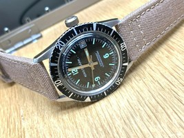 KINGSMARK VINTAGE SWUSS DIVE WATCH MECHANICAL SERVICED CORDURA BAND - $266.30