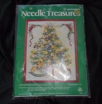 "New Vintage Needle Treasures Needlework 16"" X 20"" Christmas Tree Cross Stitch - $83.22"