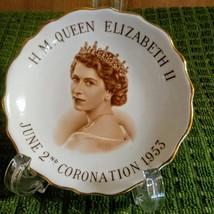 Vintage H.M Queen Elizabeth 11 June 2nd Coronation 1953 Plate      image 1