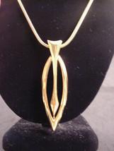 """Monet Vintage Necklace Arrow Design Pendant 28"""" Snake Chain Metal Tag - $19.31"""
