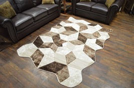 TWIST Free Shape 3D Hand Carved Modern Contemporary 5x8 Rug 4708 Beige - $119.00