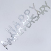 Word Happy Anniversary Cutouts Plastic Shapes Confetti Die Cut FREE SHIP... - £5.31 GBP