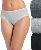 Jockey WOMENS Elance Hipster Underwear 3 Pack BLACK/GREY SIZE 7/L - $19.00