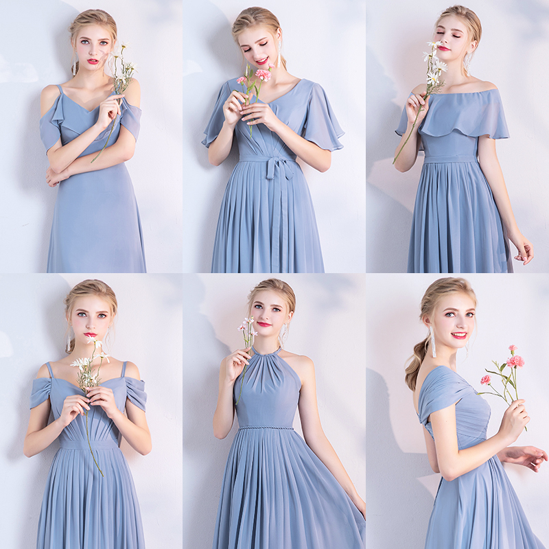 Dusty blue bridesmaid dress 2