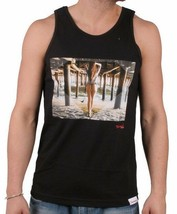 Diamond Supply Co Black Sexy Pier Cali Surfer Girl Tank Top Muscle Shirt NWT