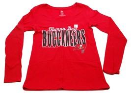 Tampa Bay Buccaneers NFL Apparel Team Logo Women's Football V Neck T-Shirt - $16.99