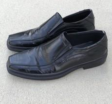 Men Black Kenneth Cole Slip On Leather Shoes Size 10 - $29.69