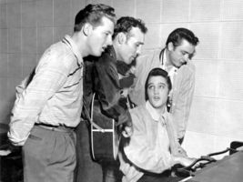 Million Dollar Quartet Presley Cash Perkins Vintage 11X14 Matted BW Musi... - $13.99