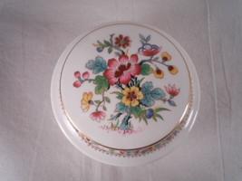 Coalport Ming Rose Round Covered Box  Made In England Bone China - $24.92