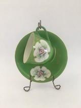 MB Occupied Japan Demitasse Tea Cup & Saucer - Floral w/ Green - $15.85