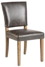 Dining Chair Richmond Pair Brindled Ash Top Grain Leather - £782.31 GBP