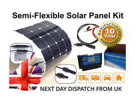 Solar Panel Kit, Semi Flexible inc All Cables & Power Controller - $169.94+