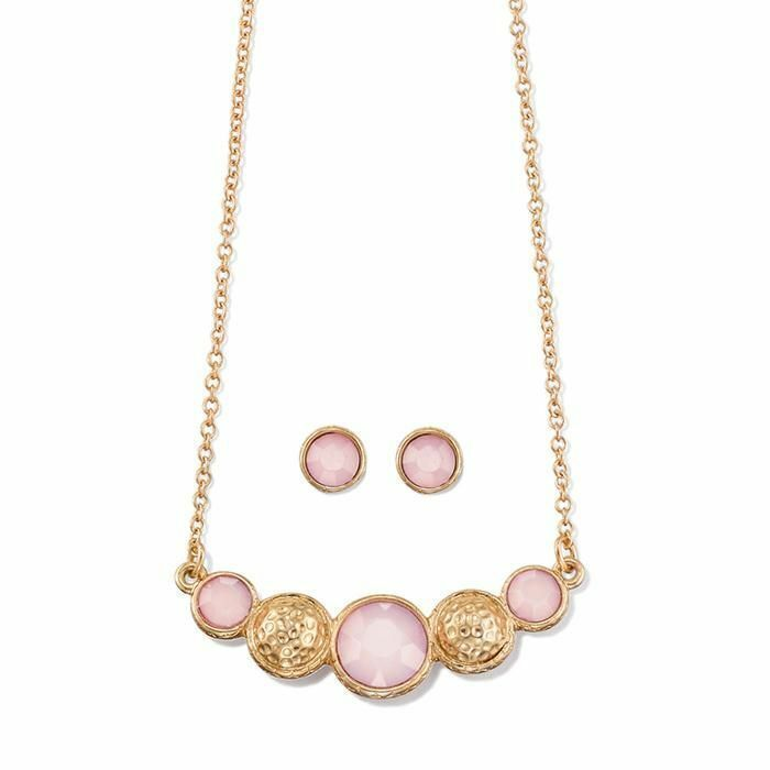 Avon Supernova Rose Necklace and Earring Set