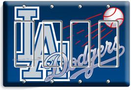 La Los Angeles Dodgers Mlb Team Logo 4 Gang Gfci Light Switch Wall Plates Decor - $17.81