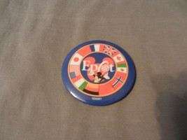 """Disney Epcot Center Mickey Mouse with Flags 3"""" Round Pin - $14.84"""