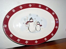 Royal Seasons Snowman Stoneware Serving/Dinner Plate (14 inch) - $34.95