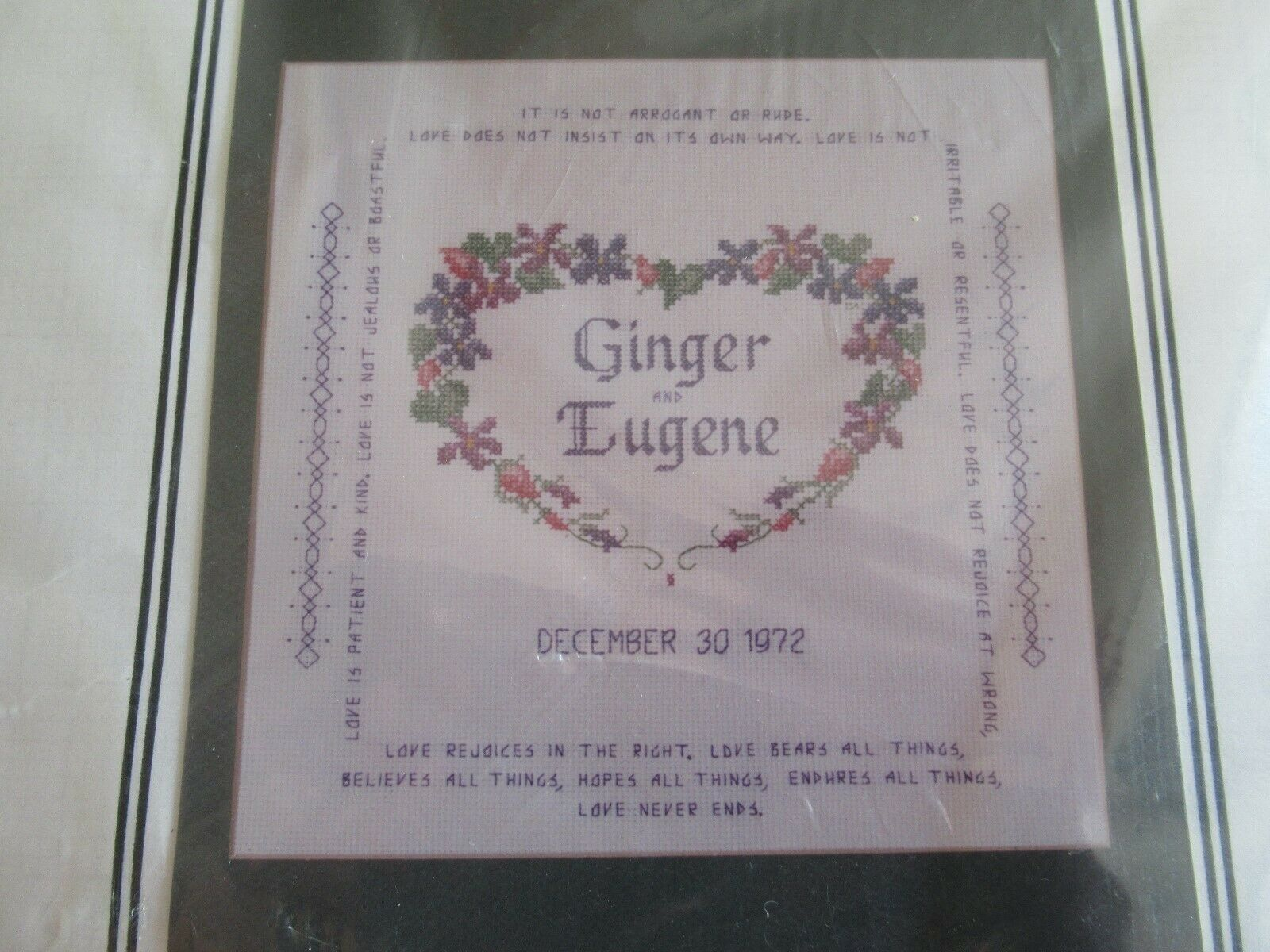 Imaginating 1293 Violet WEDDING ANNOUNCEMENT Cross Stitch Kit Connie Abel Vintag - $19.99