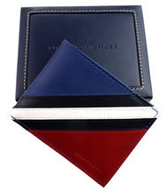 Tommy Hilfiger Men's Leather Wallet Passcase Billfold Red Navy 31TL22X051 image 12