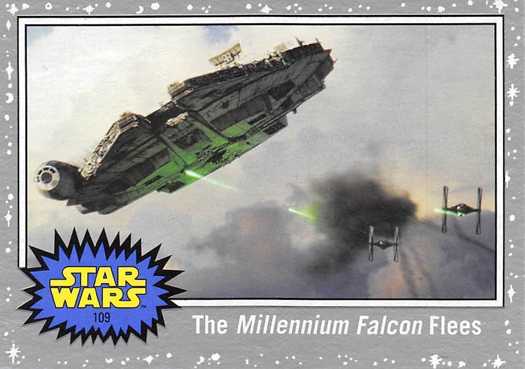 2017 Topps Star Wars Journey To The Last Jedi Silver #109 Millennium Falcon Flee