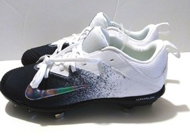 save off 2785d 5f984 Nike Lunar Vapor Ultrafly Pro 852696-100 Metal Baseball Black Cleats Mens Sz  8.5 -