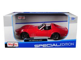 1970 Chevrolet Corvette Red 1/24 Diecast Car Model by Maisto - $50.99