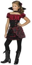 Fun World la Vampira Vampiro Horror Bambino Bambina Costume Halloween 114742 - $36.58