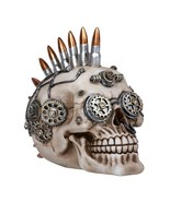 Pacific Giftware Steampunk Skull with Bullets Statue Collectible Home De... - $17.81