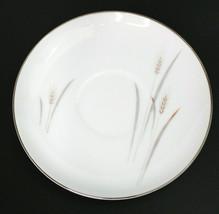 "Vintage Platinum Wheat Fine China Japan Saucer 5 3/4"" Set of 3 - $29.94"