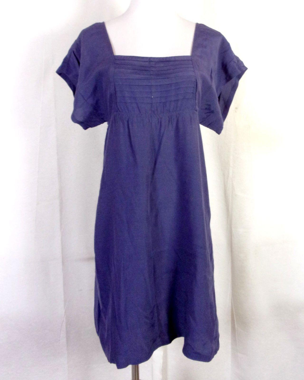 674cd285a9372 euc Anthropologie MAEVE Blue Tunic Dress Minidress She Who is Beautiful  Rayon S - $33.83