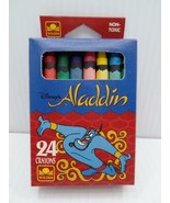 Golden Books Disney's Aladdin 24 Crayons Non-Toxic 5339 1994 Western Pub... - $19.99