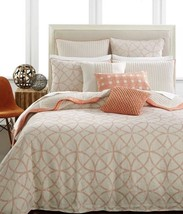 Hotel Collection Duvet Cover Linen Textured Lattice FULL /QUEEN 100% Linen - $80.99