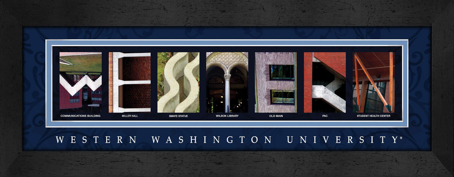 Primary image for Western Washington University Officially Licensed Framed Campus Letter Art