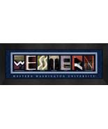 Western Washington University Officially Licensed Framed Campus Letter Art - $39.95