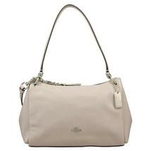 NWT COACH Small Mia Shoulder Bag Crossbody Classic Chain Chalk White Gol... - $140.58