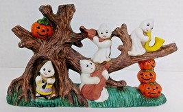 "Ghostly Musicians On A Pumpkin Tree - Ceramic - 7"" x 4"" x 2"" Tall - €11,95 EUR"