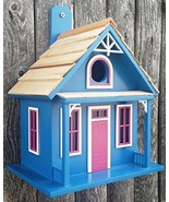 """8.75"""" Fully Functional Blue and Pink Santa Cruz Cottage Outdoor Garden B... - $74.74"""
