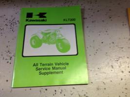 1981 1982 1983 Kawasaki KLT200 Klt 200 Service Repair Shop Manual Supplement X - $44.53