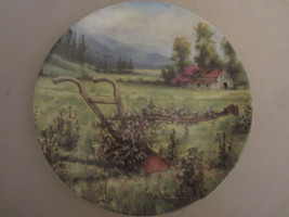 THE FORGOTTEN PLOW collector plate MAURICE HARVEY Country Nostalgia HAND... - $28.06