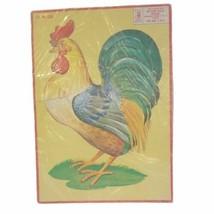 Vintage Milton Bradley Puzzle Rooster Vintage Child's Puzzle 1955 - $13.85