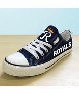 Kansas city royals shoes womens kc royals sneakers baseball fashion canv... - $59.99+