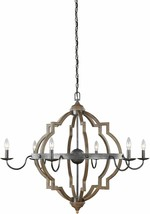 Sea Gull 3224906-846 Socorro 6-Light Chandelier, 360 Total Watts, Stardu... - $569.95