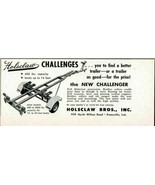 1960 Print Ad Holsclaw New Challenger Boat Trailers Evansville,IN - $9.45