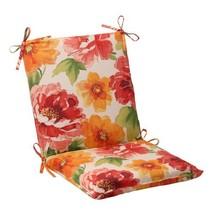 Pillow Perfect Outdoor Primro Squared Chair Cushion, Orange - £29.97 GBP