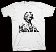 Mark Twain T-Shirt The Innocents Abroad, The Adventures of Tom Sawyer NEW - $14.99+