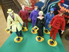 "DISNEY ""Applause""  6 DICK TRACY Character DOLLS w/ Metal Stands-FREE Pos... - $66.91"