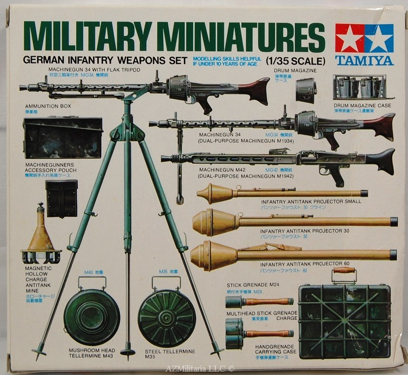 1/35 German Infantry Weapons Set Kit No. MM211 Series No. 111